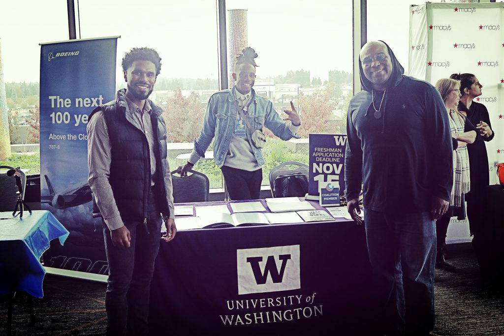 Shyan Selah with University of Washington Recruiter at Shyan Selah Experience