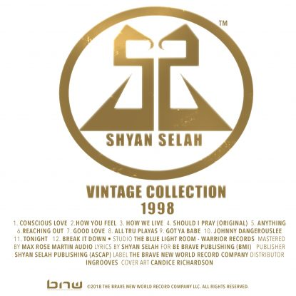 Shyan Selah - Vintage Collection Album Artwork