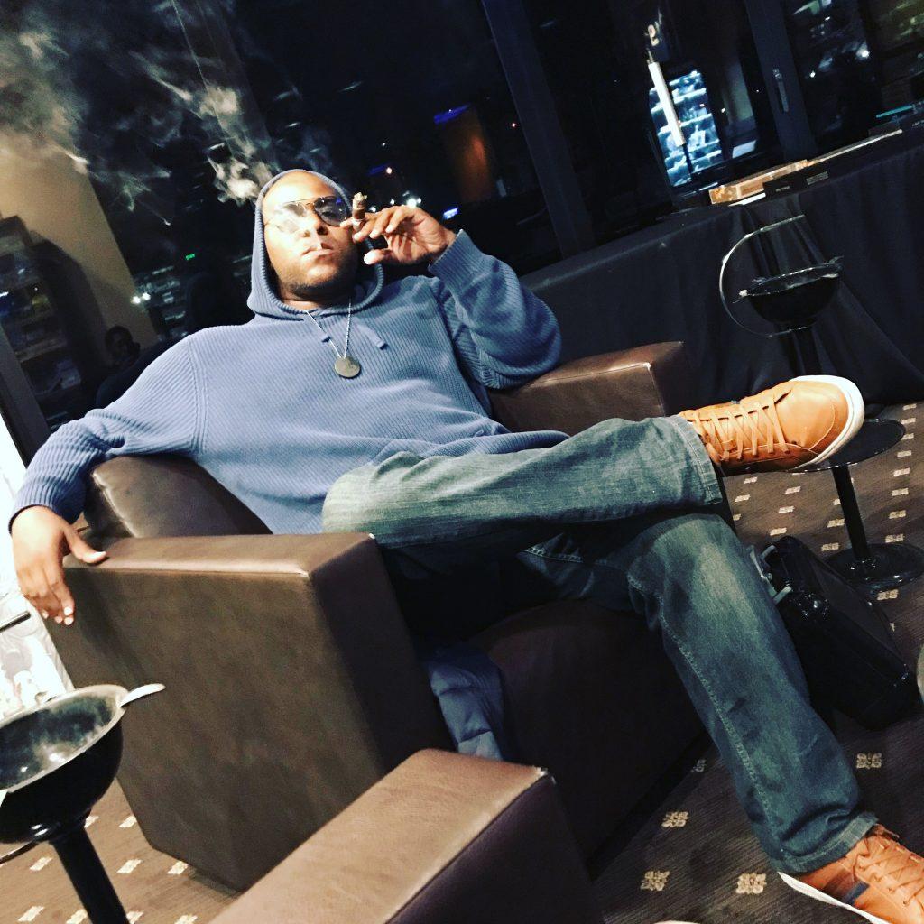 Shyan Selah with Cigar