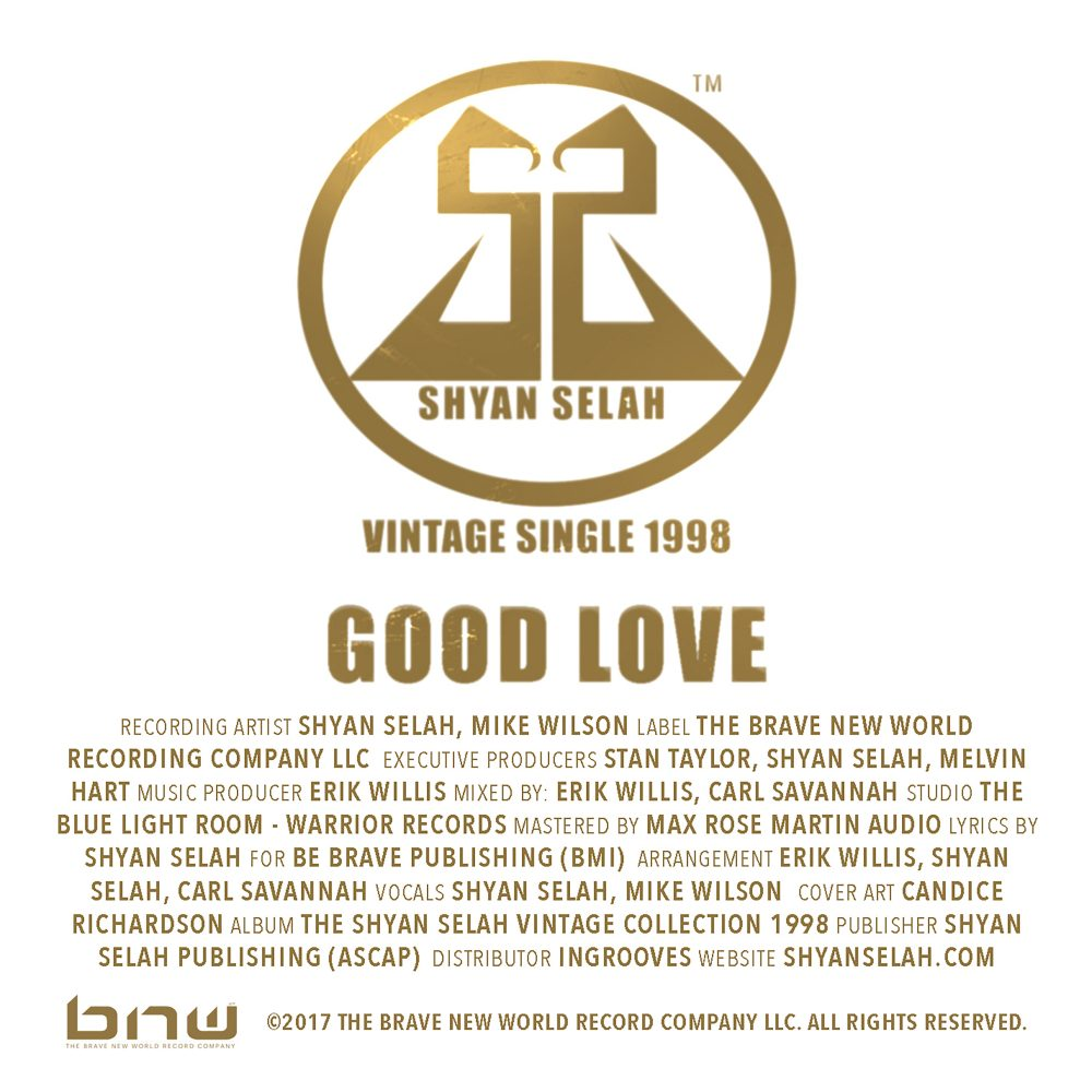 Shyan Selah - GOODLOVE - single artwork