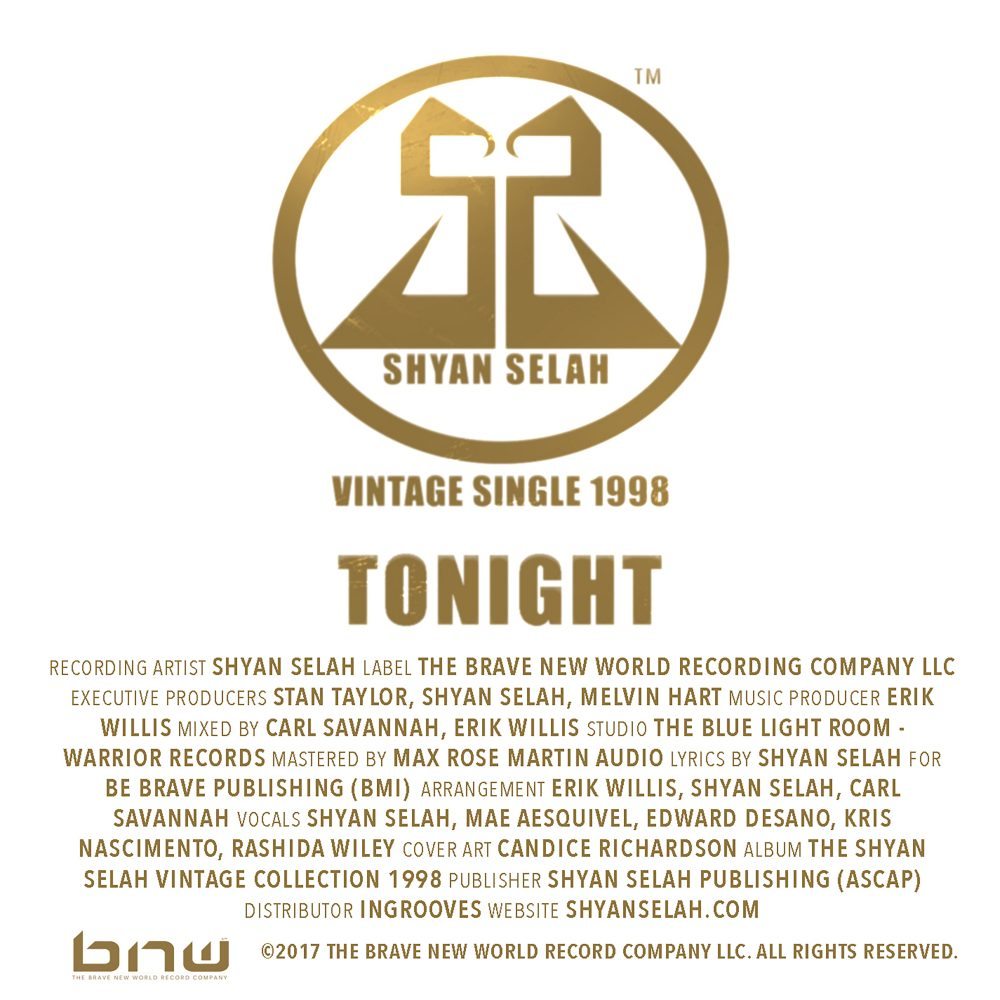 Shyan Selah TONIGHT - single artwork