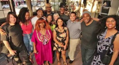 Shyan Selah and fans at Starbucks on Melrose in Los Angeles, CA
